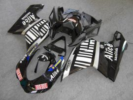 848 / 1098 / 1198 2007-2009 Injection ABS Fairing For Ducati - Alice - Black/White