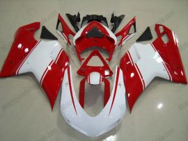 848 / 1098 / 1198 2007-2009 Injection ABS Fairing For Ducati - Others - White/Red