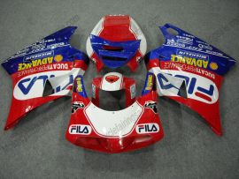 748 / 998 / 996 Injection ABS Fairing For Ducati - FILA - Red/White/Blue