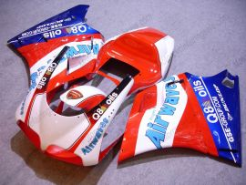 748 / 998 / 996 Injection ABS Fairing For Ducati - Airwaves - Red/White/Blue