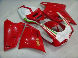 748 / 998 / 996 Injection ABS Fairing For Ducati - Others - Red/White