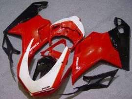 848 / 1098 / 1198 2007-2009 Injection ABS Fairing For Ducati - Others - Red/Black/White