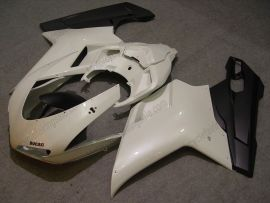 848 / 1098 / 1198 2007-2009 Injection ABS Fairing For Ducati - Others - White/Black