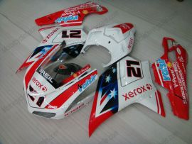 848 / 1098 / 1198 2007-2009 Injection ABS Fairing For Ducati - Xerox - Red/White