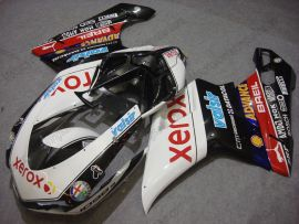 848 / 1098 / 1198 2007-2009 Injection ABS Fairing For Ducati - Xerox - White/Black