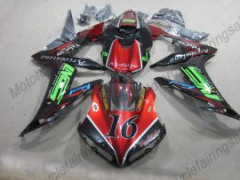 YZF-R1 2004-2006 Injection ABS Fairing - Red Flame For Yamaha - Black/Red