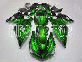 Kawasaki NINJA ZX14R 2012-2019 Injection ABS Fairing - Flame - Green