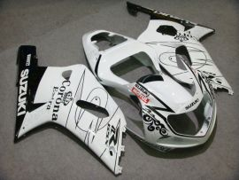 GSX-R 1000 2000-2002 K1 K2 Injection ABS Fairing For Suzuki - Corona - White/Black
