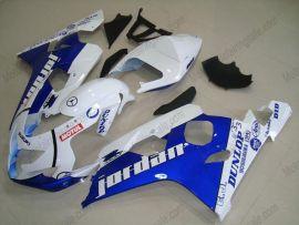 GSX-R 600/750 2004-2005 K4 Injection ABS Fairing For Suzuki - Jordan - White/Blue