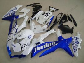 GSX-R 600/750 2008-2010 K8 Injection ABS Fairing For Suzuki - Jordan - White/Blue