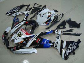 GSX-R 600/750 2008-2010 K8 Injection ABS Fairing For Suzuki - VIRU - Black/White