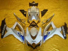GSX-R 600/750 2008-2010 K8 Injection ABS Fairing For Suzuki - Others - White/Silver