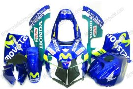 F5 2005-2006 Injection ABS Fairing For Honda CBR 600RR - Movistar - Blue