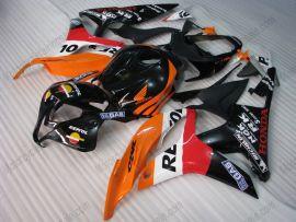 F5 2007-2008 Injection ABS Fairing For Honda CBR 600RR - Repsol  - Black/Orange/Red