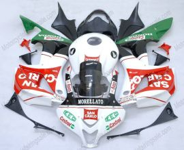 F5 2007-2008 Injection ABS Fairing For Honda CBR 600RR - San Carlo  - White/Black/Red