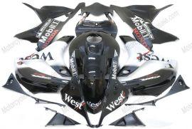 F5 2007-2008 Injection ABS Fairing For Honda CBR 600RR - West  - Black/White
