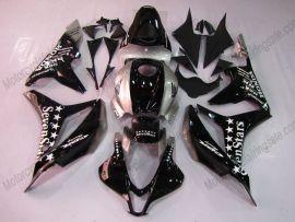 F5 2007-2008 Injection ABS Fairing For Honda CBR 600RR - SevenStars - Black/Silver