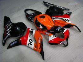 F5 2009-2012 Injection ABS Fairing For Honda CBR 600RR - Repsol - Orange/Black