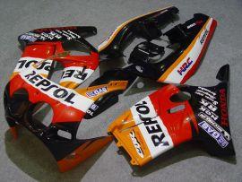 MC19 1988-1989 Injection ABS Fairing For Honda CBR250RR - Repsol - Black/Red/Orange