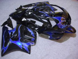F3 1995-1996 Injection ABS Fairing For Honda CBR600 - Blue Flame - Black