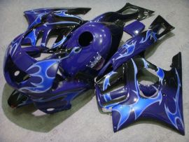 F3 1995-1996 Injection ABS Fairing For Honda CBR600 - Blue Flame - Black/Blue