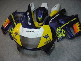 F3 1995-1996 Injection ABS Fairing For Honda CBR600 - Camel - Blue/Yellow