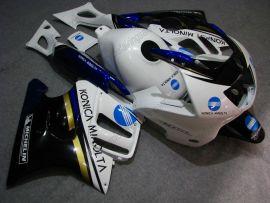 F3 1995-1996 Injection ABS Fairing For Honda CBR600 - Konica Minolta - Black/White