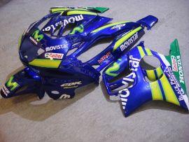 F3 1995-1996 Injection ABS Fairing For Honda CBR600 - Movistar - Blue