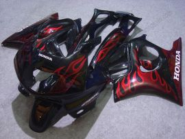 F3 1995-1996 Injection ABS Fairing For Honda CBR600 - Red Flame - Black