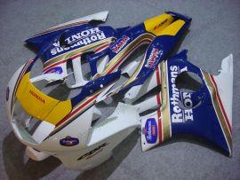 F3 1995-1996 Injection ABS Fairing For Honda CBR600 - Rothmans - Blue/White/Yellow