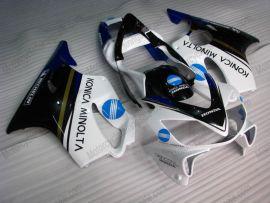 F4i 2001-2003 Injection ABS Fairing For Honda CBR600 - Konica Minolta - White/Black/Blue