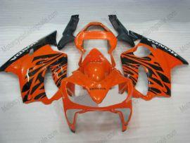 F4i 2001-2003 Injection ABS Fairing For Honda CBR600 - Black Flame - Orange