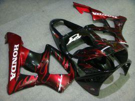 929 2000-2001 ABS Fairing For Honda CBR900RR - Flame - Red Flame(Black)