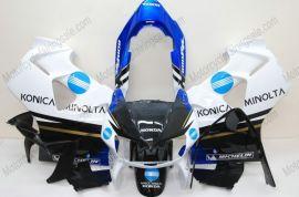 VFR800 1998-2001 ABS Fairing For Honda - Konica Minolta - White/Black/Blue