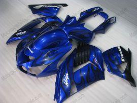 NINJA ZX14R 2006-2011 ABS Fairing For Kawasaki  - Black Flame - Blue