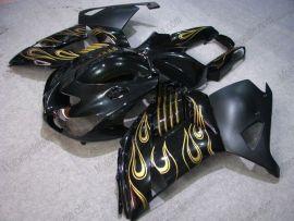 NINJA ZX14R 2006-2011 ABS Fairing For Kawasaki  - Golden Flame - Black