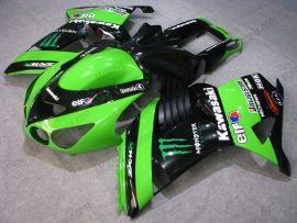NINJA ZX14R 2006-2011 Injection ABS Fairing For Kawasaki - Monster - Black/Green