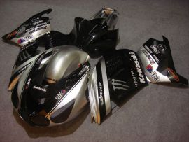 NINJA ZX14R 2006-2011 ABS Fairing For Kawasaki - Monster - Black/Silver