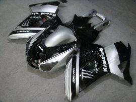 NINJA ZX14R 2006-2011 Injection ABS Fairing For Kawasaki - Monster - Black/Silver