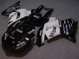 NINJA ZX14R 2006-2011 ABS Fairing For Kawasaki - West - Black/White
