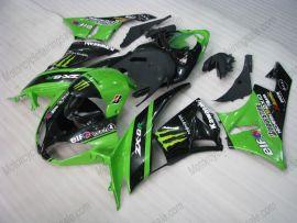 NINJA ZX6R 2009-2012 Injection ABS Fairing For Kawasaki - Monster - Green/Black