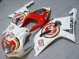 GSX-R 1000 2000-2002 K1 K2 Injection ABS Fairing For Suzuki - Lucky Strike - Red/White