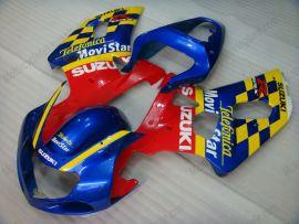 GSX-R 1000 2000-2002 K1 K2 Injection ABS Fairing For Suzuki - Movistar - Blue/Yellow/Red