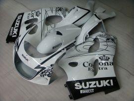 GSX-R 600/750 1997-1999 ABS Fairing For Suzuki - Corona - White/Black