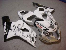 GSX-R 600/750 2004-2005 K4 Injection ABS Fairing For Suzuki - Corona - White/Black