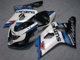 GSX-R 600/750 2004-2005 K4 Injection ABS Fairing For Suzuki - Dunlop - White/Blue/Black