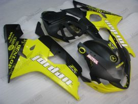 GSX-R 600/750 2004-2005 K4 Injection ABS Fairing For Suzuki - Jordan - Yellow/Black