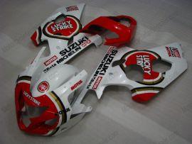 GSX-R 600/750 2004-2005 K4 Injection ABS Fairing For Suzuki - Lucky Strike - White/Red