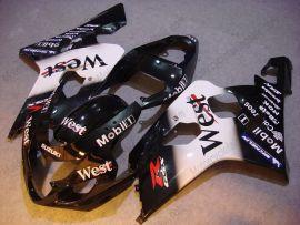 GSX-R 600/750 2004-2005 K4 Injection ABS Fairing For Suzuki - West - Black/White