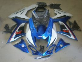 GSX-R 600/750 2011-2015 Injection ABS Fairing For Suzuki - Factory Style - White/Blue
